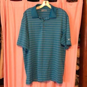 Men's blue striped golf tee
